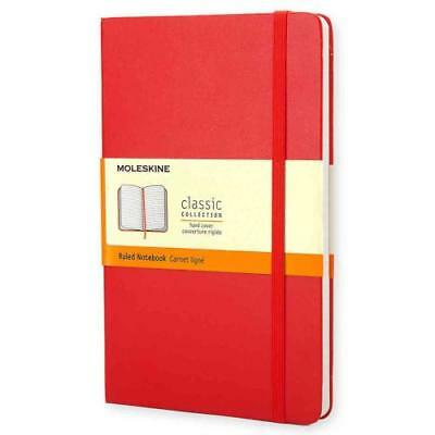 Classic Red Notebook Ruled Pocket - Moleskine - New Hardcover Book