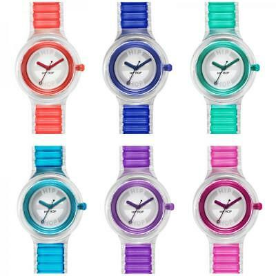 Orologio HIP HOP SHEER Small 32 mm Silicone Trasparente Colorato Blu Rosso Viola