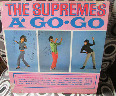 The Supremes signed A Go Go Album Diana Ross Florence Ballard JSA Authenticated