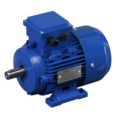 3 Phase Electric Motor 4 Pole 1500RPM Aluminium IE2 Efficiency