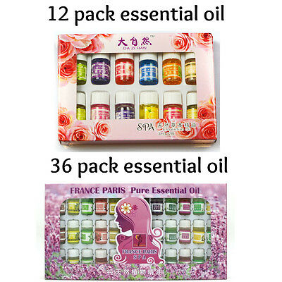 Essential Oil Set - 12 or 36 pack - 100% Pure Natural Aromatherapy