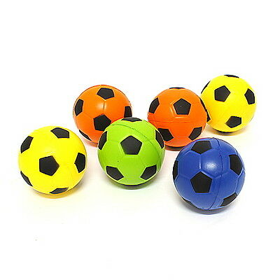 6Pcs Sponge Mini Soccer Ball (6.5cm) Small Soft foam toys Kids Safety EVA HARA