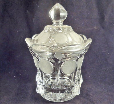 FOSTORIA COIN GLASS Clear CANDY BOX & LID #1372 354 Candy Dish Covered