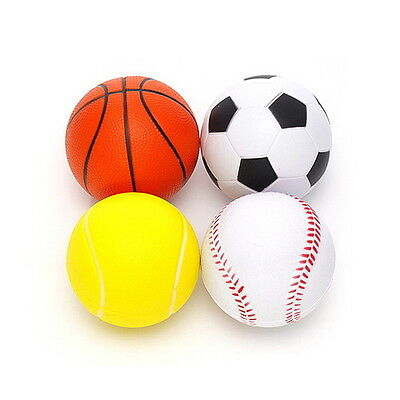 4Pcs Sponge Mini Ball Small Soft toys Safety Basket Tennis Baseball Soccer HARA