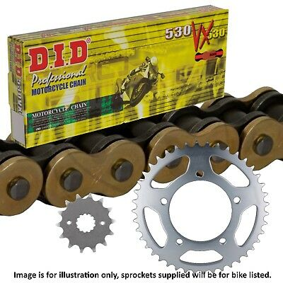 Suzuki GSF1250 S Bandit (ABS) 2009 DID Gold X-Ring Chain and Sprocket Kit