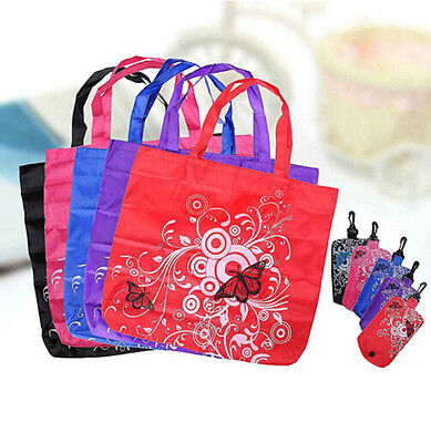 Shopping Shopper Tote Pouch Bags Reusable Eco Shoudler Folding Clips New