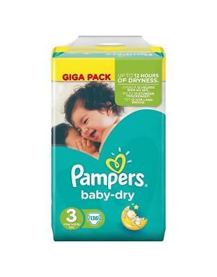 Pampers Baby Dry 4 - 9KG 136's Size 3 Pampers