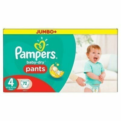 Pampers Baby Dry Pull Up Pants 8 - 15KG 72's Size 4 Pampers
