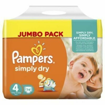 Pampers Simply Dry 7 - 18KG 74's Size 4 Pampers