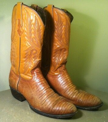 VINTAGE CUSTOM RARE Alligator Cowboy Boots - Men's 10.5D • $149.99 ...