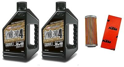 Genuine KTM oil filter & Maxima SynBlend 10W40 service kit 250SXF 2013-2016