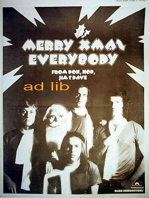 Slade - Merry Xmas Everybody, British Poster-Size Advert/ad 1973