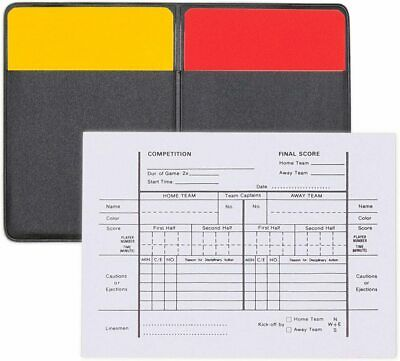 New Champion Soccer Referee Officials 1 Red & Yellow Card, Score Card & Wallet