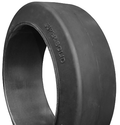 (2- tires ) 15x5x11-1/4 Super Solid forklift press-on smooth tire USA Made 15511