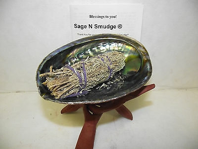Sage Smudge Stick Kit Sage Abalone Shell And Stand Full Instructions