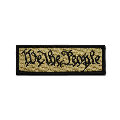 Tactical Combat Morale Patch EMB Hook and Loop by BASTION - WE THE PEOPLE ACU