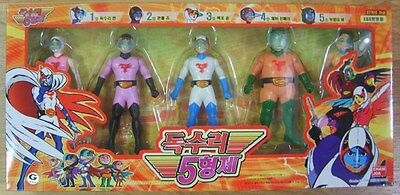 Gatchaman Battle of the planets figure 5 doll Set  No capes