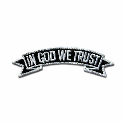 Tactical Combat Badge Morale EMB Hook and Loop by BASTION - IN GOD WE TRUST BNW