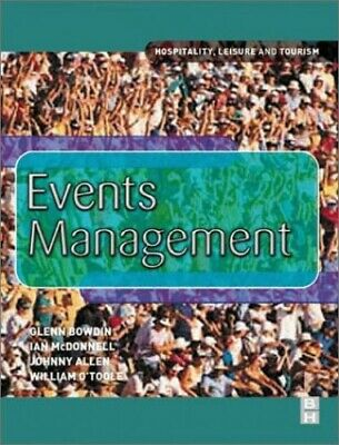 Events Management by O'Toole, William Paperback Book The Cheap Fast Free Post