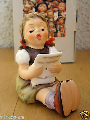 "Goebel Hummel Figurine ""girl With Sheet Of Music"" Hum #389 Tm6 Germany Mib M687"
