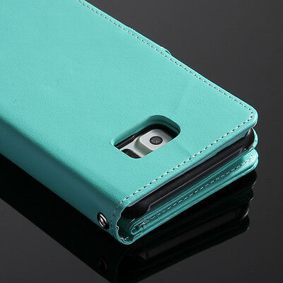 For Samsung Galaxy S6 Edge+ Luxury Leather Wallet Card Holder Flip Case Cover