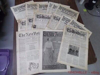 1902 THE NEW VOICE Prohibition Party Newspaper Lot Temperance Movement 15 Issues