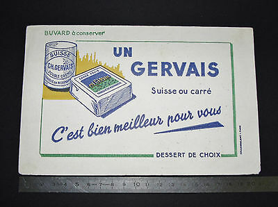 Buvard Charles Gervais 1950-1960 Suisse Ou Carre Normandie