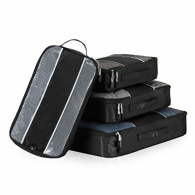 S/4 Packing Cubes Socks Shoes Organiser Storage Bags Travel Luggage Compression