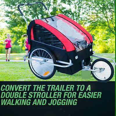 Instep Multifunctional baby stroller bike trailer tricycle Double seat for 2 kid