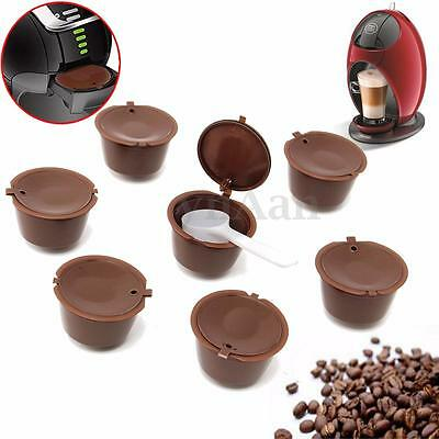 7x Refillable Reusable Coffee Capsules For Dolce Gusto Brewers Refill Cup Filter