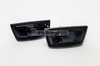 Vauxhall Astra H Corsa D Black Side Indicators Repeaters Pair Set Left Right