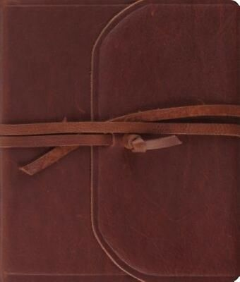 Journaling Bible-ESV-Strap Flap by Leather Book (English)