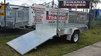 Ramp Trailer 8x5 Galvanized Heavy Duty With Free Cage