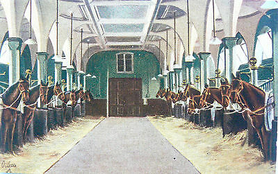 POSTCARD:TUCK'S.No.3004-C2.STATE STABLE.THE ROYAL MEWS,BUCKINGHAM PALACE