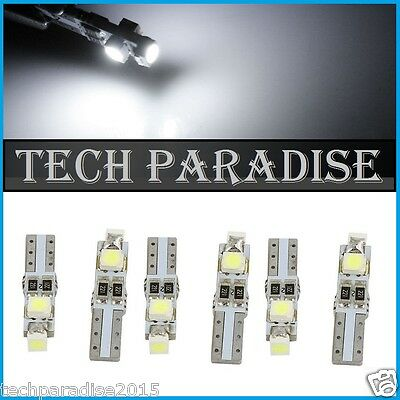 2x Ampoule T5 W1.2W (B8.3D) CanBus Anti erreur 3 LED SMD Blanc White Neo Wedge
