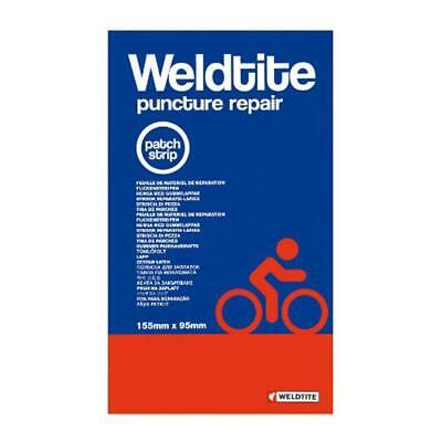 Weldtite puncture repair cycle patch strip 155mm x 95mm