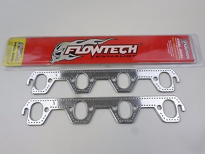 Square Port Flowtech 99150a Real Seal Exhaust Header Gaskets Small Block Chevy