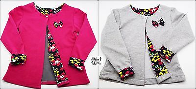 Baby Girls Toddler Jacket Cotton Cardigan Jumper Bow Stylish Floral