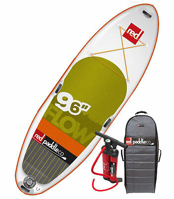 Sale Red Paddle Co Flow 9-6 Inflatable SUP Paddle Board w/Titan & free paddle!