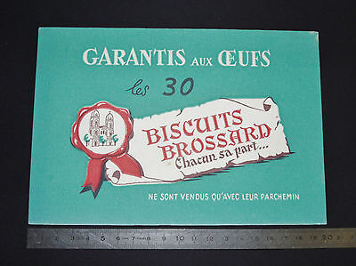 Buvard 1950 Biscuits Brossard St Jean D'angely Parchemin
