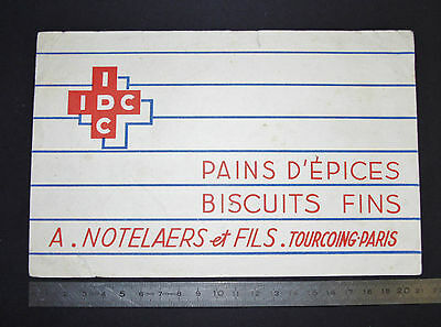 Buvard 1950 Biscuits Fins Idc Pains D'epices A. Notelaers & Fils Tourcoing Paris