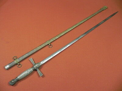 Antique US 19 Century Fraternal Sword w/ Scabbard