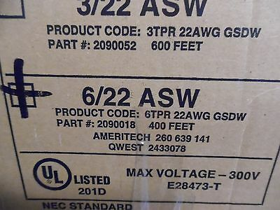 25' General Cable Non Metallic Support Telephone Drop Wire 6/22 ASW 6TPR 2090018