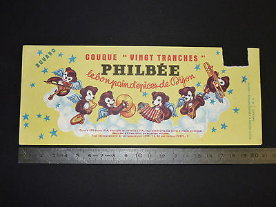 Buvard 1950-1960 Pain D'epices Philbee Dijon Petit Ours Couque 20 Tranches