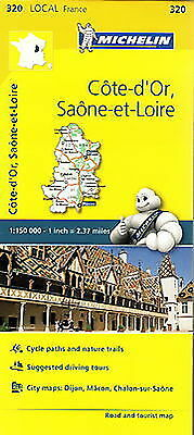 Michelin Map 320 Cote d Or Saone et Loire France Local Road and Tourist