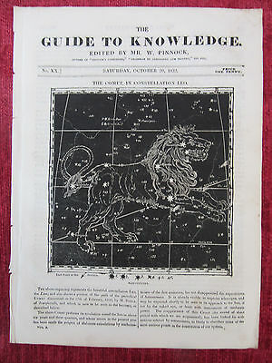 1832 The Guide To Knowledge William IV Magazine Oct.20 Antique Ephemera FC22