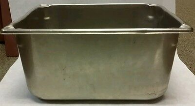 "Restaurant Equipment 1/2 SIZE STAINLESS STEEL STEAM TABLE PAN 6"" DEEP"