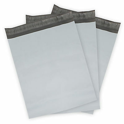 100 - 12x15.5 WHITE POLY MAILERS ENVELOPES BAGS SELF SEALING  2.5Mil EXTRA Thick