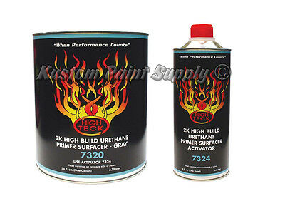 High Teck 7320-1 2k High Build Urethane Primer Surfacer Gray Gallon Kit