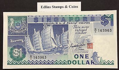 1987 $1 Singapore Banknote - Uncirculated - Pick 18A - B/6 163963
